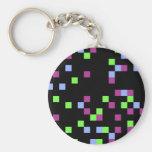 pixel black keychains