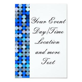 """Pixel blue, aqua 3.5"""" x 5"""" invitation card"""