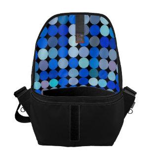 Pixel blue, aqua messenger bags