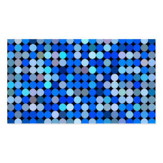 Pixel blue, aqua pack of standard business cards