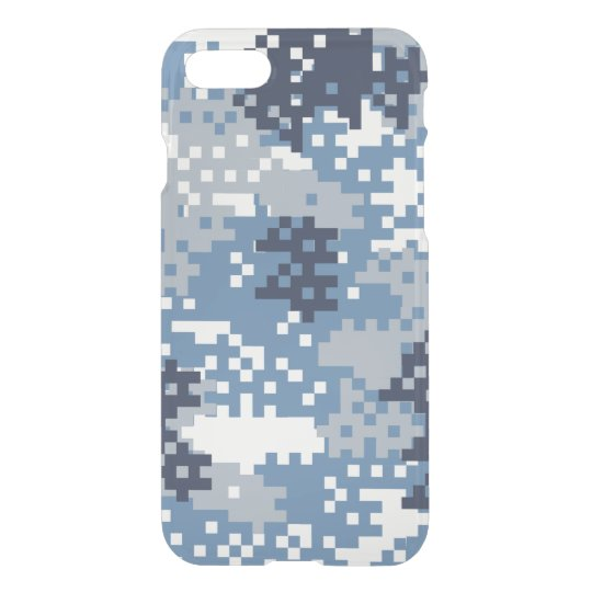 Pixel Blue Camouflage iPhone 7 Case
