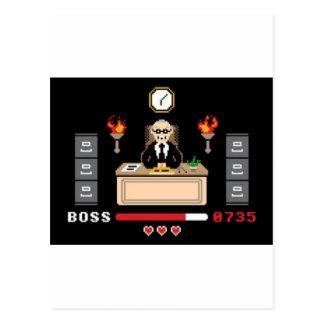 Pixel 'Boss' Design - GeekShirts Postcard