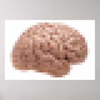 Pixel Brain Poster