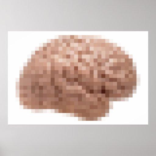 Pixel Brain Posters