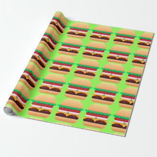 Pixel Burger Wrapping Paper