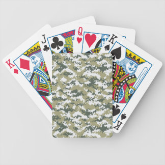 Pixel Camo Bicycle Playing Cards