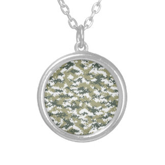 Pixel Camo Silver Plated Necklace