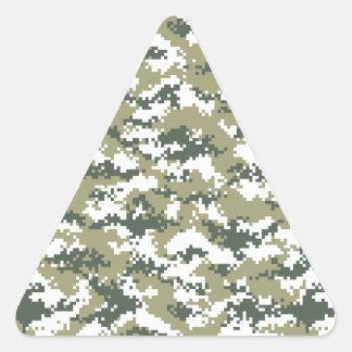 Pixel Camo Triangle Sticker