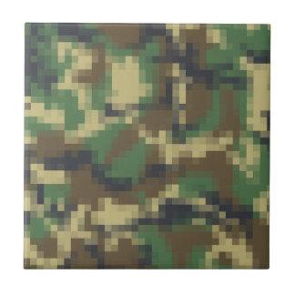 Pixel Camouflage Ceramic Tile