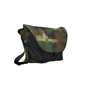 Pixel Camouflage Commuter Bag
