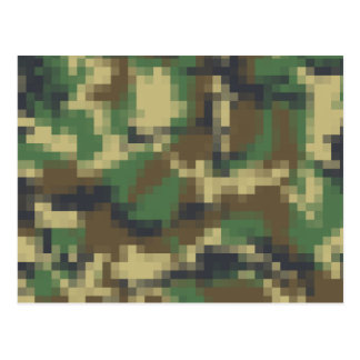 Pixel Camouflage Postcard