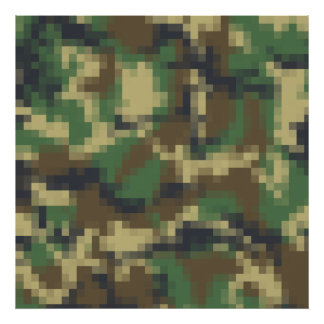 Pixel Camouflage Poster
