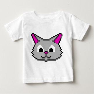 Pixel Cat Head Baby T-Shirt