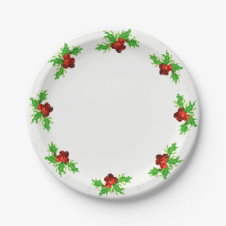 Pixel Christmas Paper Plate