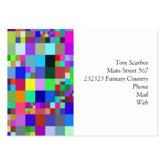 Pixel colorful. pack of chubby business cards