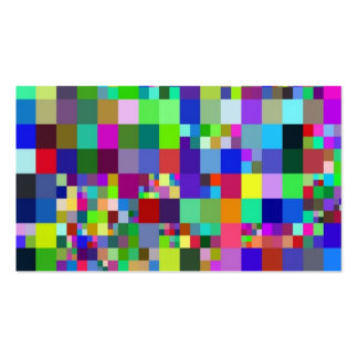 Pixel colorful. pack of standard business cards