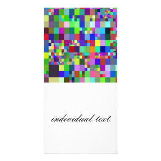 Pixel colourful. photo cards
