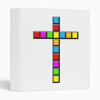 Pixel Cross Vinyl Binders