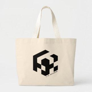 Pixel Cube Logo Tote Bag