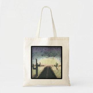 Pixel Desert Tote Budget Tote Bag