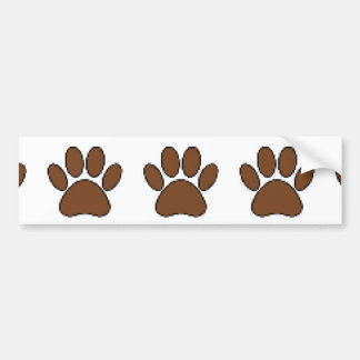 Pixel Dog Paw Print Bumper Sticker