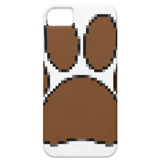 Pixel Dog Paw Print Case For The iPhone 5