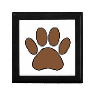 Pixel Dog Paw Print Gift Box