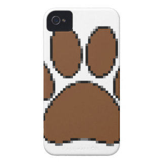 Pixel Dog Paw Print iPhone 4 Covers