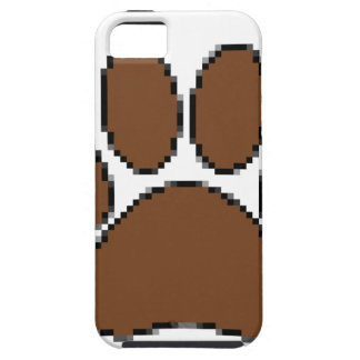 Pixel Dog Paw Print iPhone 5 Cover