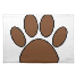Pixel Dog Paw Print Placemat