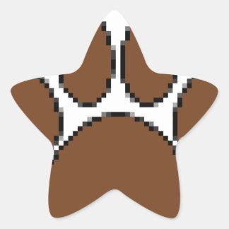 Pixel Dog Paw Print Star Sticker