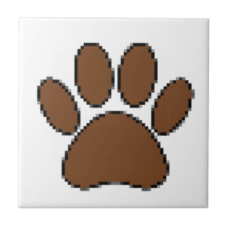 Pixel Dog Paw Print Tile