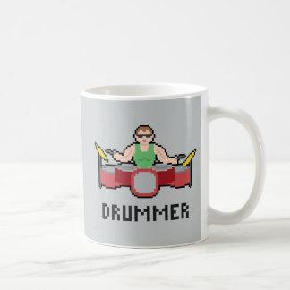 Pixel Drummer Mug Basic White Mug