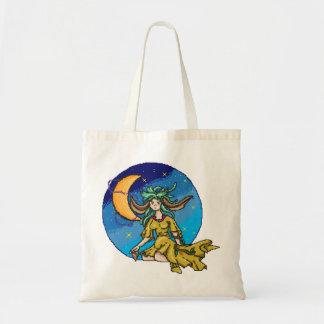 Pixel Earth Fairy Goddess Budget Tote Bag