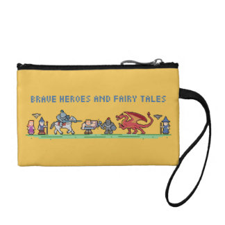 Pixel Fairy Tales Key Coin Clutch Coin Purses