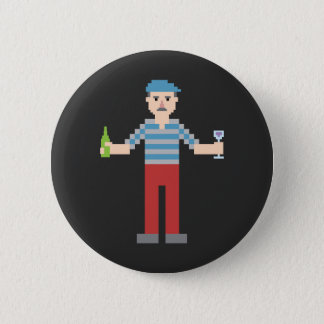 Pixel French 2 Inch Round Button