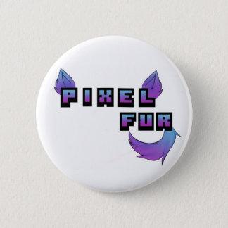 Pixel Fur Logo 2 Inch Round Button