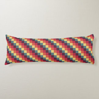 Pixel Geometric Diagonal Stripe Pattern Body Pillow