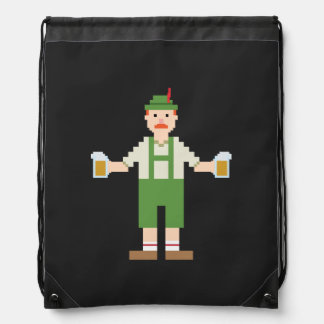 Pixel German Drawstring Backpacks