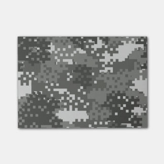 Pixel Grey & White Urban Camouflage Post-it Notes