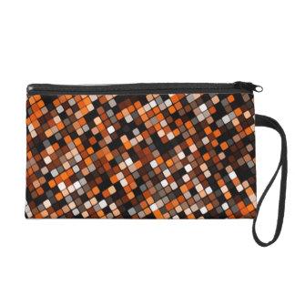 Pixel Grid Bagettes Bag Wristlet Clutch