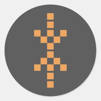 Pixel Hand of Eris (orange) sticker