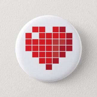 Pixel Heart 2 Inch Round Button