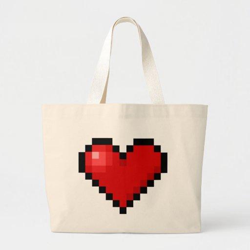 Pixel heart bag