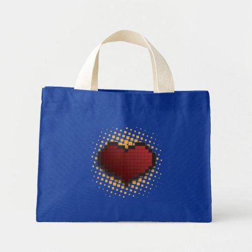 Pixel Heart Bags