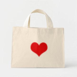 Pixel Heart Canvas Bag