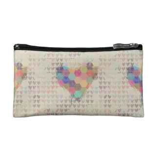 Pixel Heart Bag Cosmetics Bags