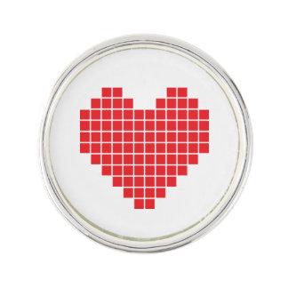 Pixel Heart Lapel Pin