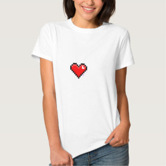 pixel heart tshirt