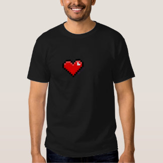 pixel heart tshirts